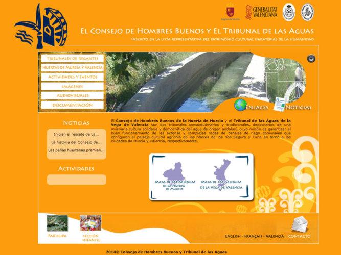 Web Consejo de Hombres Buenos y Tribunal de las Aguas