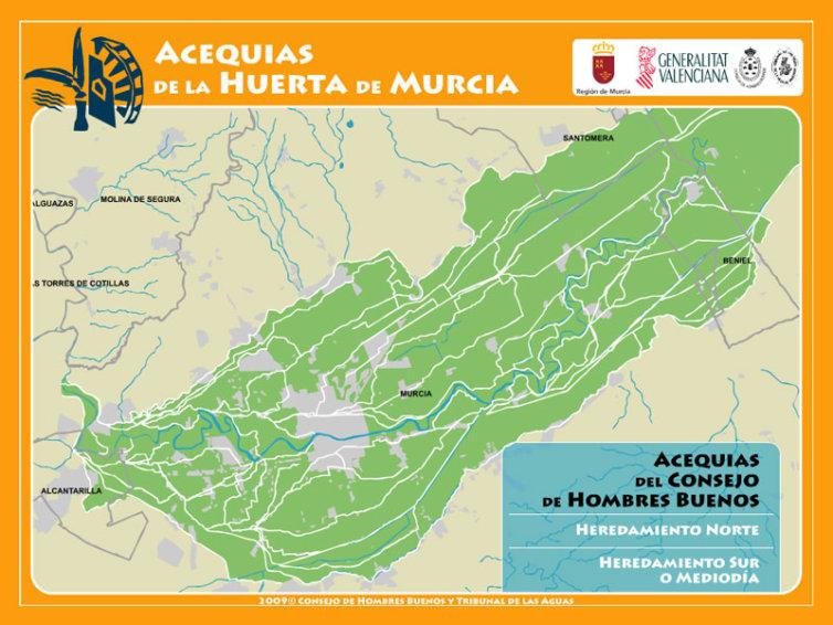Interactivo Acequias de la Huerta de Murcia