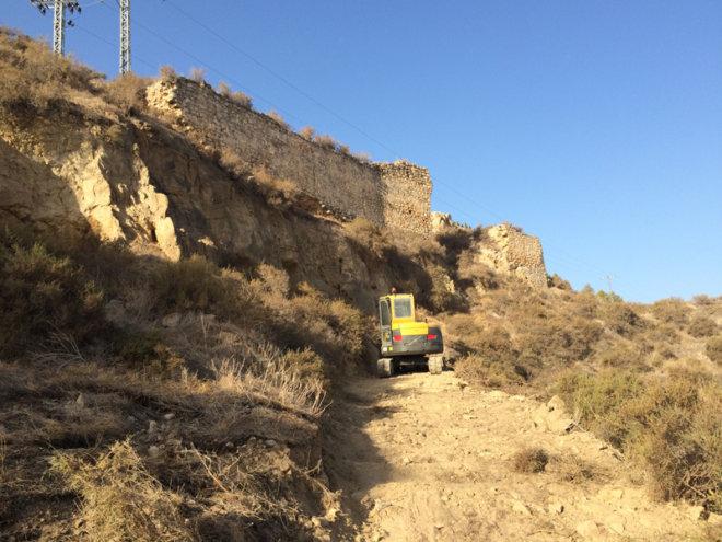 Cortina 2 de la Muralla del Castillo de Lorca