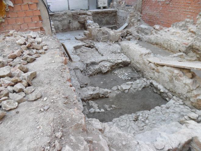 excavación arqueológica en calle Lope Gisbert