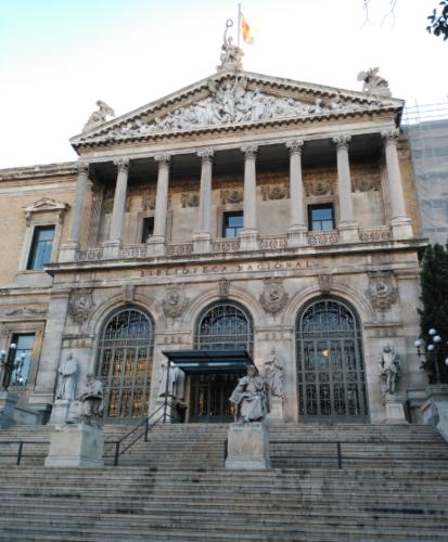 CONSERVACIÓN Y RESTAURACIÓN EN LA FACHADA OESTE DE LA BIBLIOTECA NACIONAL DE ESPAÑA